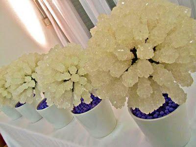 Rock Sugar Centerpieces - cute centerpiece change up