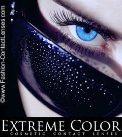 Extreme Color Cosmetic Lenses - Contact Lenses that work on all eye colors non prescription lenses order online today to change your eye color now