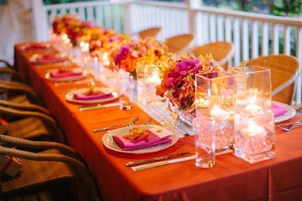 Décoration de mariage orange