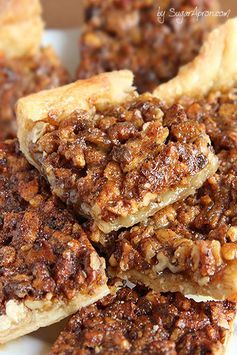 Easy Pecan Pie Bars | www.sugarapron.com | #pecanpie in a bite size bar! #Crescenroll #dough makes this pecan bar recipe simple and quick to prepare.