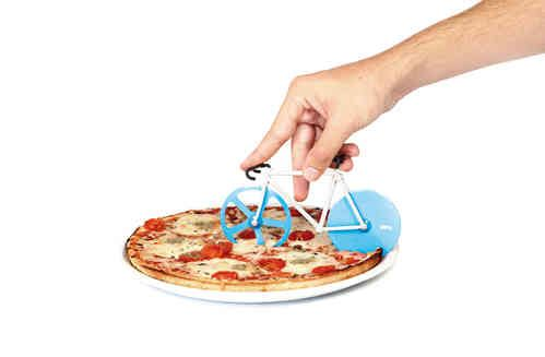 Fixie Pizza Cutter - White Apple Gifts