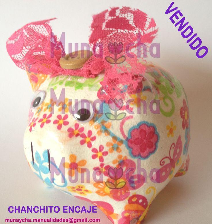 Chanchitos alcancía decorativos en 3 tamaños. Son piezas únicas, hechas a mano. Bellos regalos para toda ocasión.
