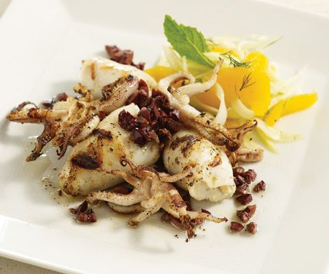 ... parsley and lemon chilled calamari salad with lemon and parsley