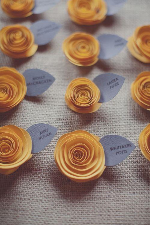 Paper Flower Escort Cards