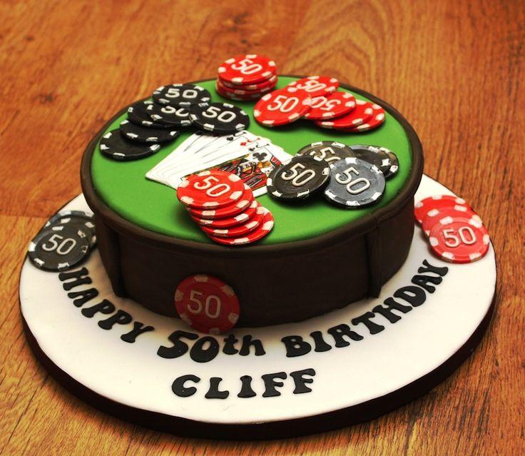 poker-cards-casino-theme cake to order..hubby's 40th birthday