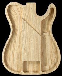 Warmoth Telecaster Thinline Hollow Body - construction contains 2 or 3 large chambers