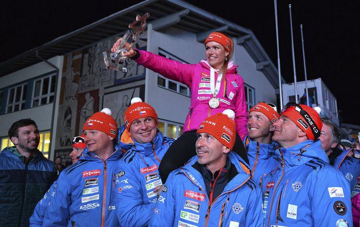 Gabriela Koukalová skončila ve stíhačce třetí