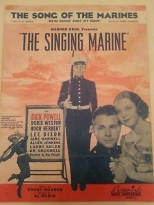 The-Song-of-the-Marines-Warner-Bros-The-Singing-Marine-1937-Remick-Music-Corp. Yolanda@YKP