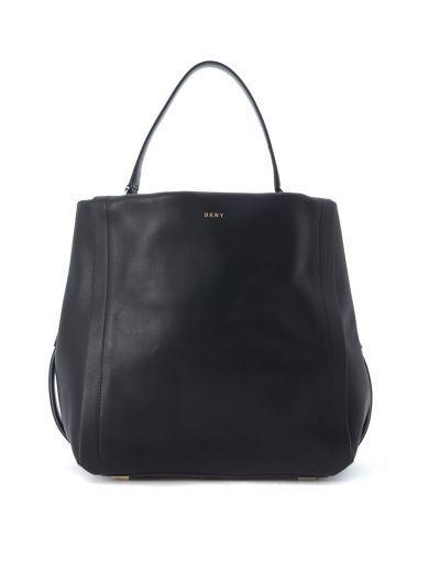 DKNY Borsa Dkny Bucket In Pelle Nera. #dkny #bags #bucket #
