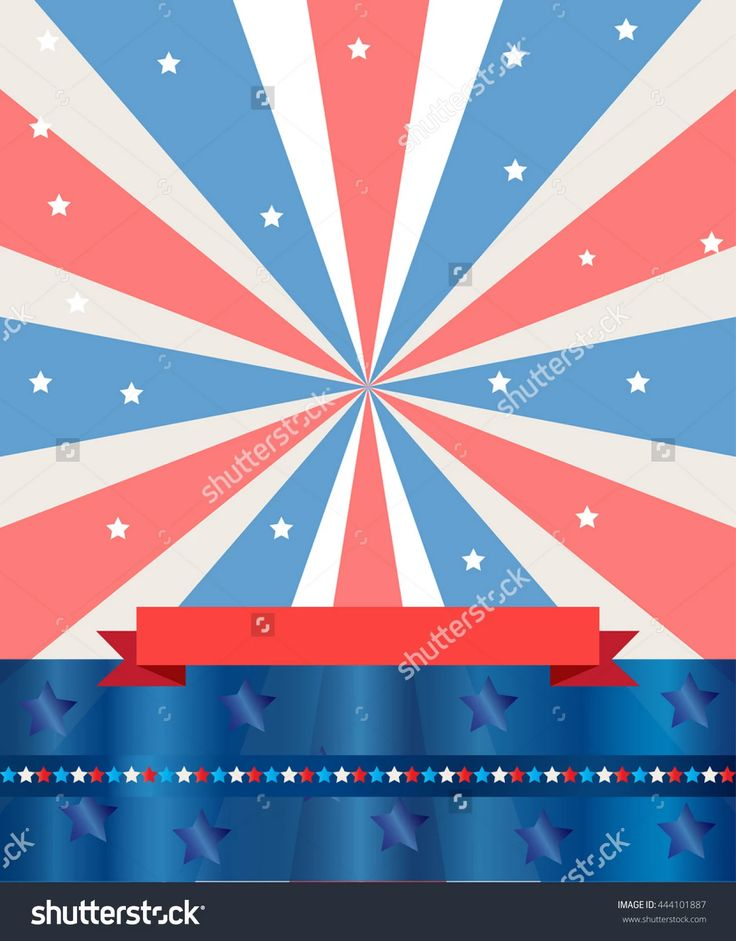 Independence Day Holiday Abstract Background. Ribbon, Stars Elements On American Flag Color Background. Design For Holiday Independence Day. Patriotic Vector Illustration. Holiday - 444101887 : Shutterstock
