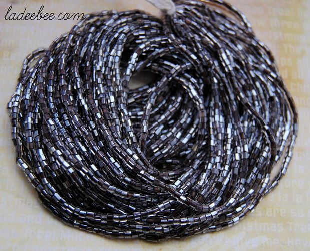 Hank of 2mm Silver Lined Grey Bugle Beads. Starting at $1 on Tophatter.com!
