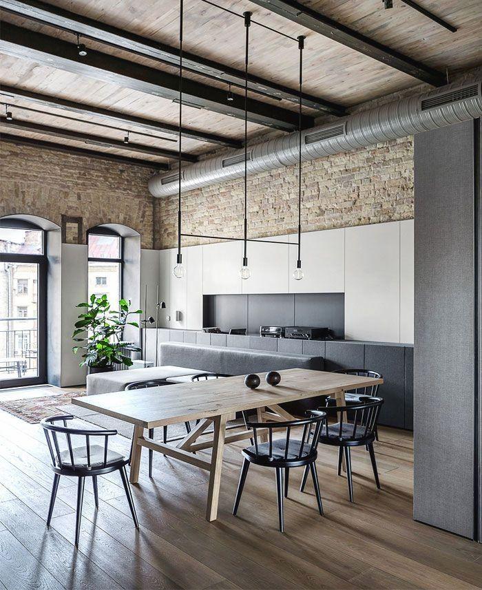 Trendy urban chic .. | Industrial Loft Design in 2019 | Arredamento ...