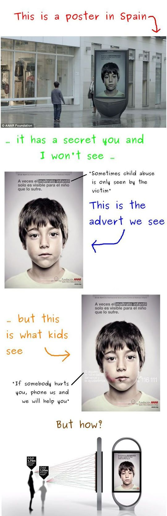 I think this is the most wonderful ad ever. It's brilliantly made and really very true. Really proving that only the victim can see... I love this. Made me teary with excitement/awe/sadness.