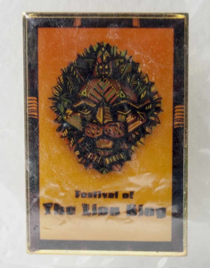 Disney Pin 1174 WDW Festival of The Lion King Pin RARE Issued for 1 Day in 1998 #Disney