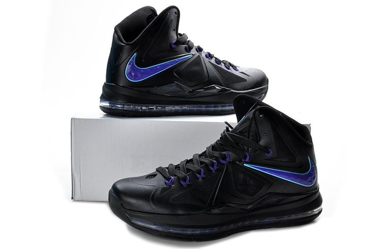 Lebron X Usa Black Royal Blue Cheap Lebron 10 Shoes 541100 003