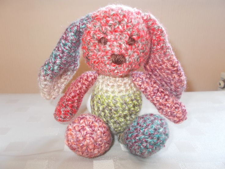 Floppy bunny in pink and blue colours ... so cute !