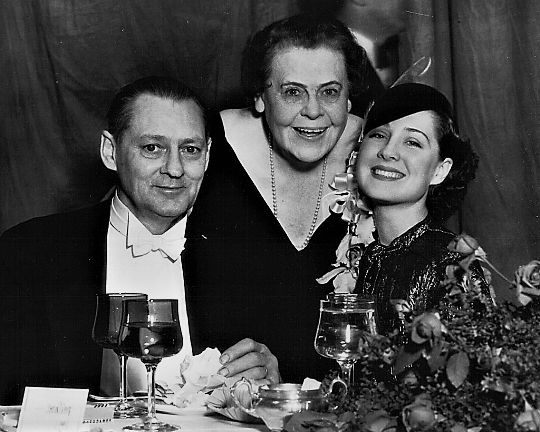 L for legends: Norma Shearer, Marie Dressler & Lionel Barrymore