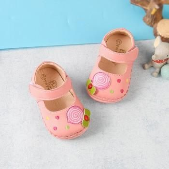 Sweet Candy Applique Leather Shoes for Toddler Girl