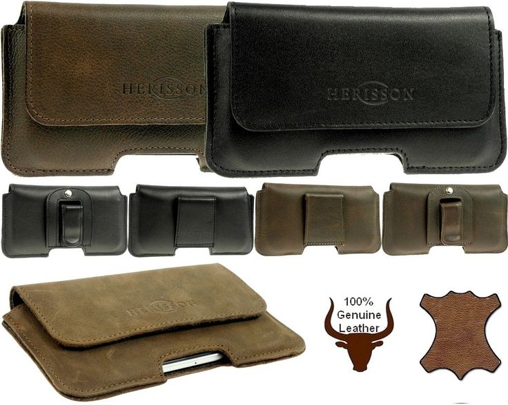 HERISSON GENUINE LEATHER BELT CLIP HOLSTER POUCH CASE FOR APPLE IPHONE 7 Plus #Herisson