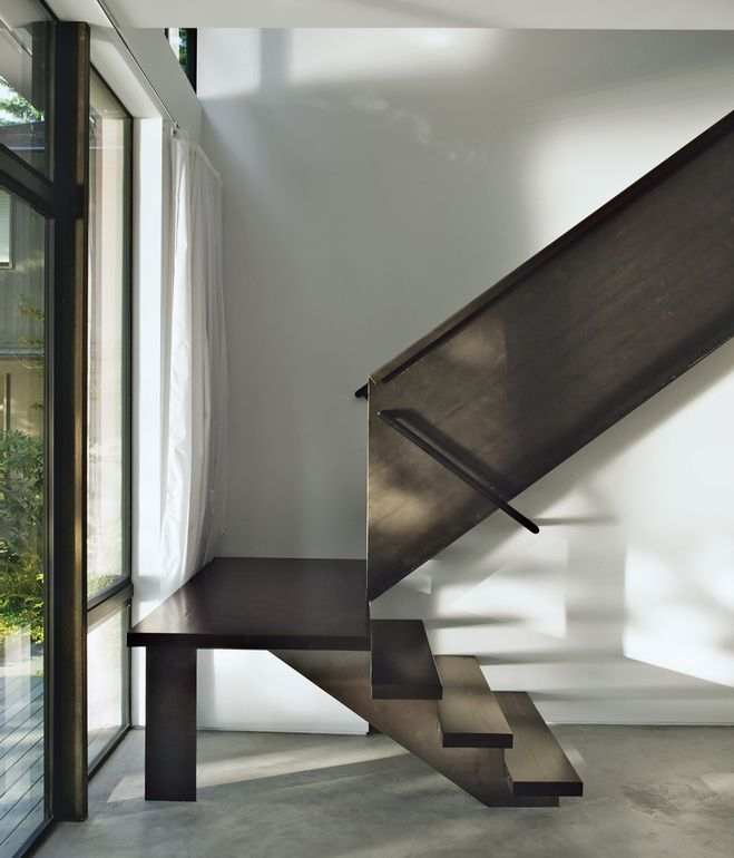Best A Custom Fabricated Steel Staircase In A Seattle House By 400 x 300