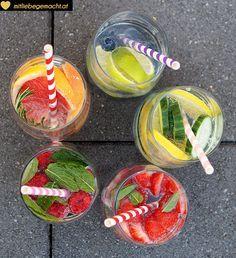 Infused water - Wasser mit Geschmack – herrliche Durstlöscher - Rezepte auf www.mitliebegemacht.at