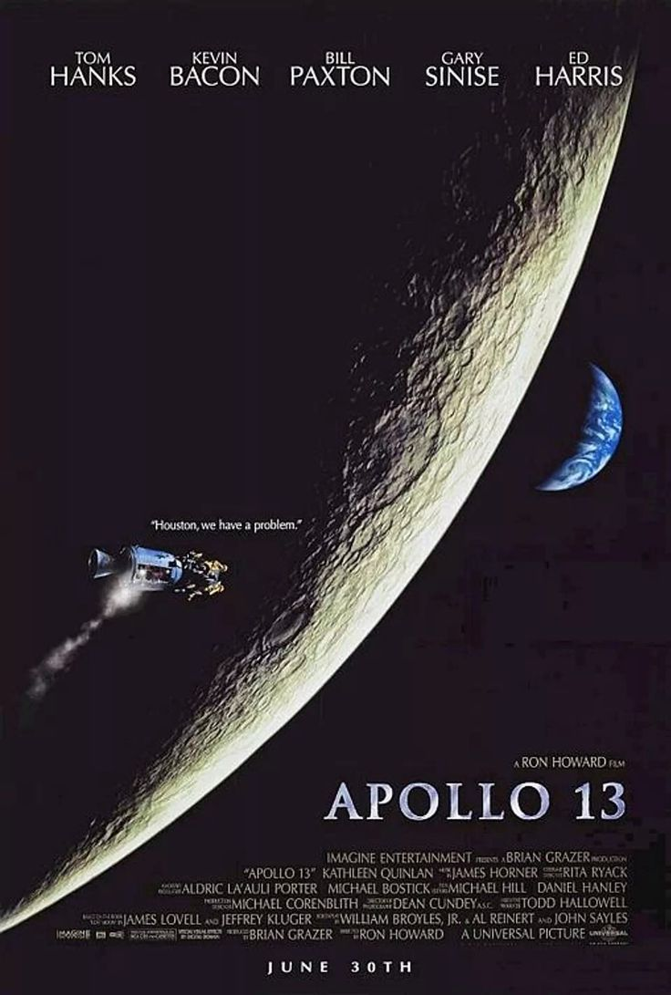 A fun and suspenseful film about the real life Apollo 13.
