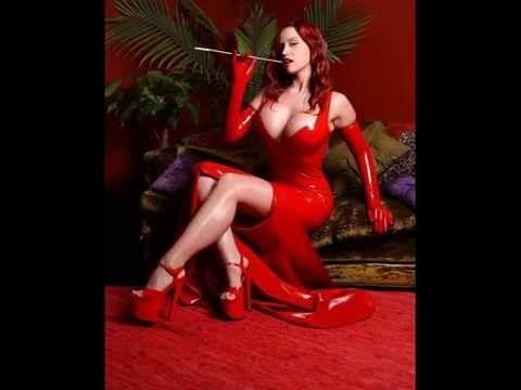 Latex RED Dress, Girls SEXY