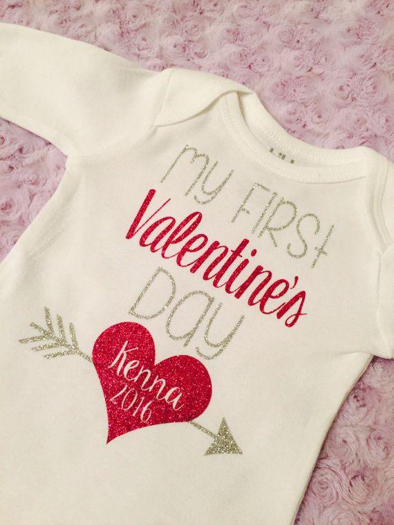 My first Valentine's Day Bodysuit Baby girl. от LittleLoviesChic