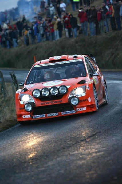 MONTE CARLO, MONACO - JANUARY 20: Henning Solberg and Cato Menkerud of Norway compete during Leg Three of the WRC Monte-Carlo Rally on January 20, 2007 in Monte-Carlo, Monaco.