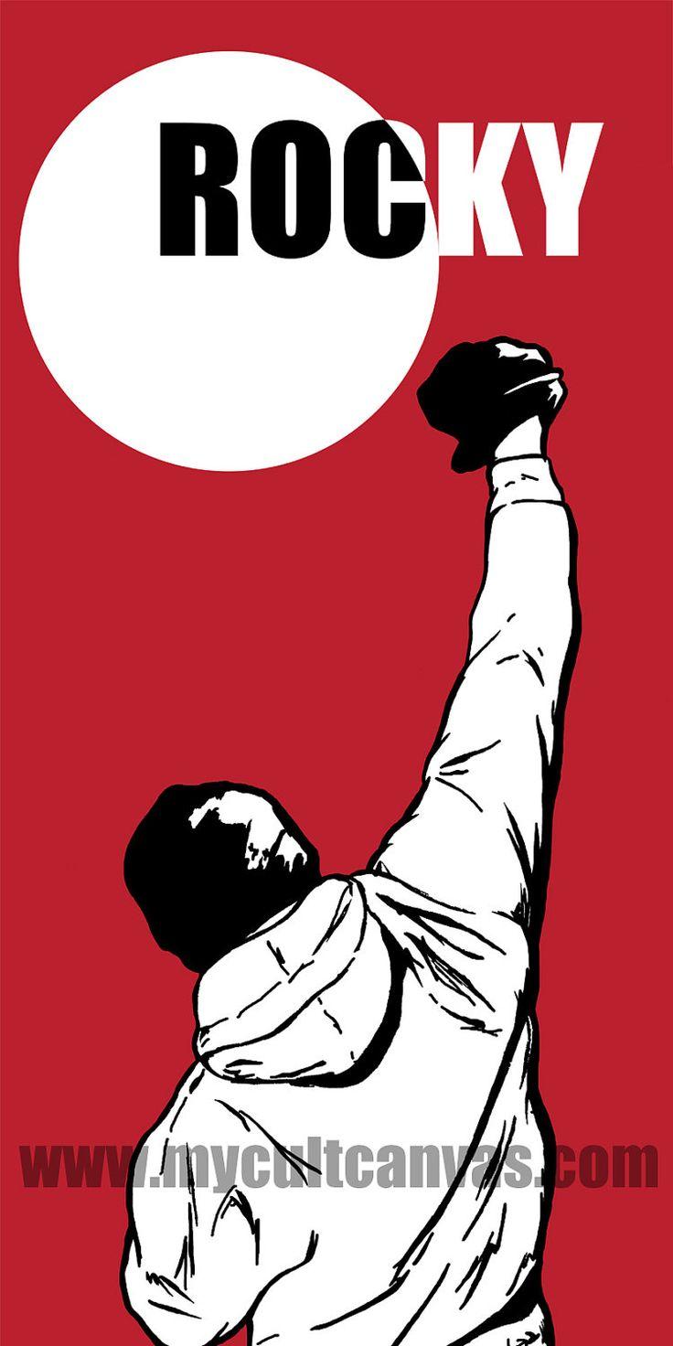 "Original Rocky ""Balboa"" Art Print Poster Boxing Movie Apollo by RedPandaDesigns on Etsy"