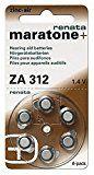 Renata Hörgerät ZA 312 Maratone Zink Luft Hörgeräte Akkus von 6 Stück (3 Packung ZA 312)