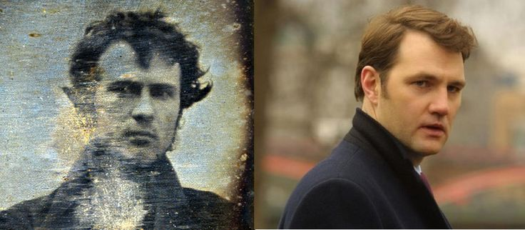 We're not entirely sure who this David Morrissey fellow is, but he sure does look a lot like the very first Daguerreotype boyfriend, Robert Cornelius.  Suggested by aazelma