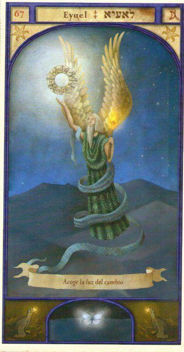 (67) EYAEL (Kabbalistic angel) protects those born 20 - 24 February, gives comfort at critical times. (ángel Cabalístico) protege aquellos nacidos 20 - 24 febrero, da consuelo en los momentos críticos.