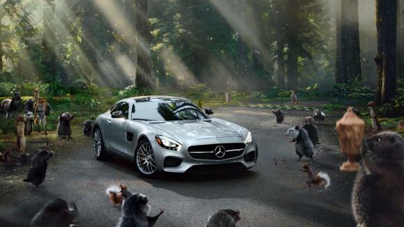 Kim Kardashian T-Mobile and 2016 Mercedes-AMG GT S Super Bowl commercials