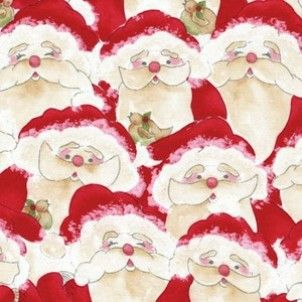Red Rooster - Santa Claus - cotton fabric