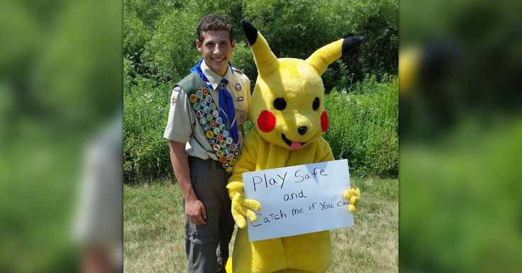 The Eagle Scout who made headlines with a campaign against texting while driving is back with an important safety message about Pokémon GO.