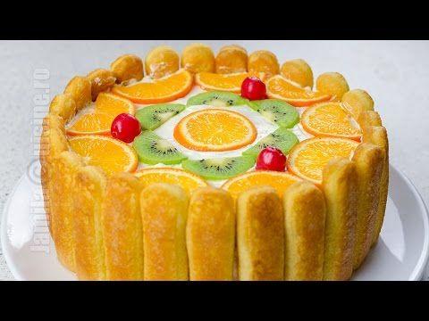 Tort diplomat | Ladyfingers Fruit Cake (CC Eng Sub) | JamilaCuisine - YouTube