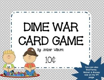 Cute math card game. Great for remediation or early finishers!!