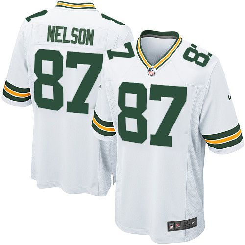 Men's White Nike Game Green Bay Packers #87 Jordy Nelson Color NFL Jersey $79.99