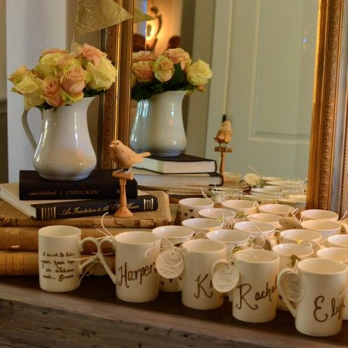 HOW TO HOST A BEAUTIFUL BRIDAL SHOWER | www.AfterOrangeCounty.com | #Party #Favors