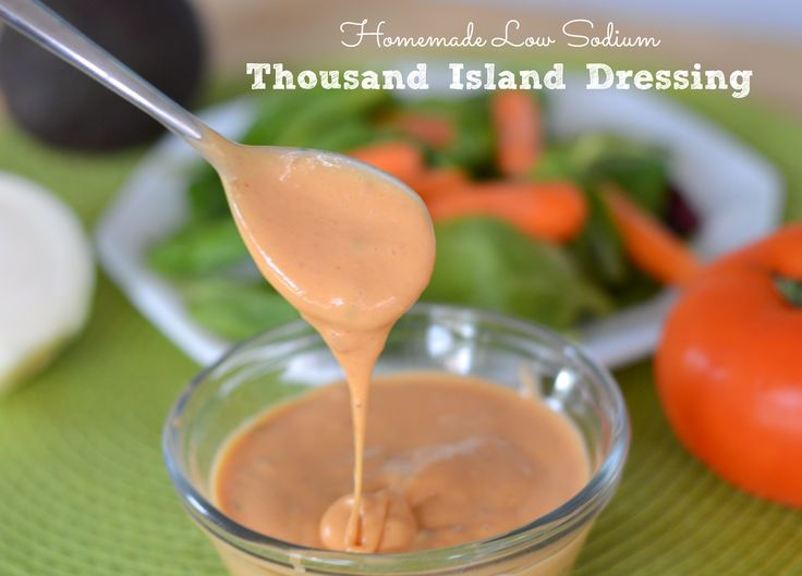 If you love Thousand Island Dressing but you're trying to watch your sodium, learn to make this Homemade Low Sodium Thousand Island Dressing instead of store bought.