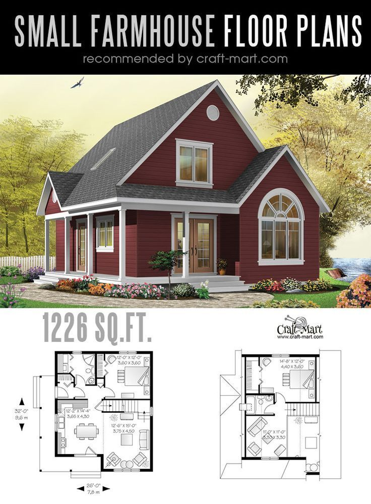Small Farmhouse Plans For Building A Home Of Your Dreams Craft Mart Ev Zemin Planlari Mimari Ev Plani