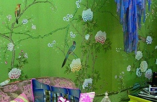 designer tapeten grün wandgestaltung