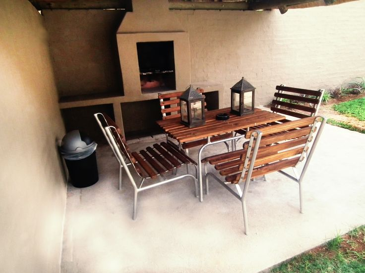 One of the newly built cottages with the lapa and braai areas