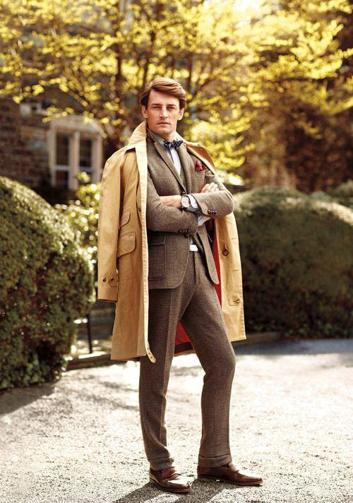 秋冬に着たいツイード素材のスーツ。40代アラフォーメンズにおすすめのスーツコーデ。