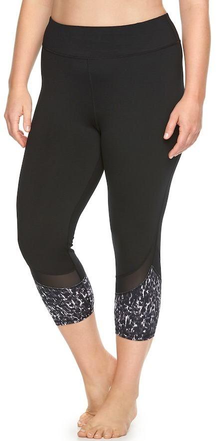 Gaiam Plus Size Om Yoga Capris