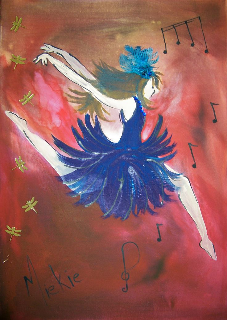 Mixed media and ink on canvas. A2 size. Dancing Girl. R300 unframed. Sold.