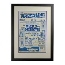 Framed Lucha Libre Wrestling Poster Mr Mexico c1960 | Restored Antique Lighting, Salvage, Antiques & Vintage Finds