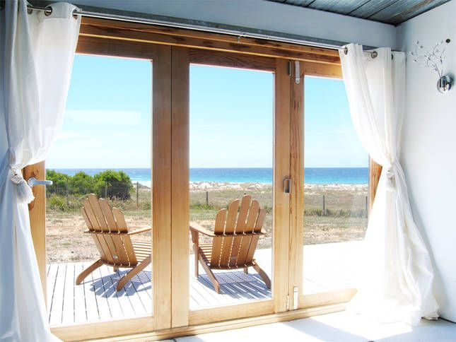 The view from the master bedroom | Malibu on the Beach - oceanfront retreat in Four Mile Creek, Tasmania