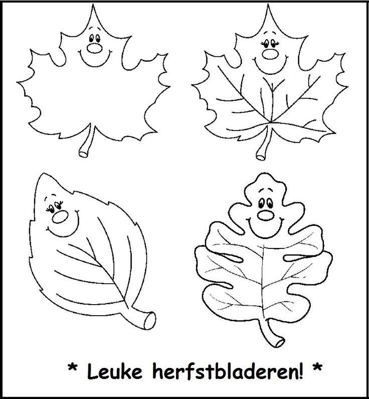 leuke herfstbladeren herfst kleurplaten